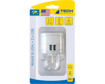 Travel Blue Wereld Adapter - USA + USB