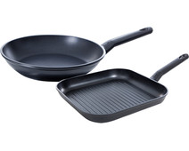 BK Easy Induction Frying Pan and Grill Pan 28+26cm