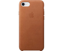 Apple iPhone 7/8 Leather Back Cover Saddle Brown