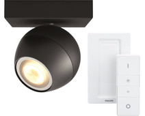 Philips Hue Buckram Spot Black with Dimmer