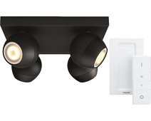 Philips Hue Buckram 4-Spot Black with Dimmer