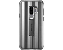 Samsung Galaxy S9 Plus Protect Stand Cover Silver