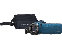 JVC GZ-R495AEU Blue + memory card + bag