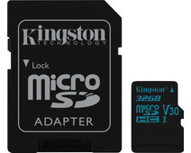 Kingston microSDHC Canvas Go! 32GB 90MB/s + SD Adapter