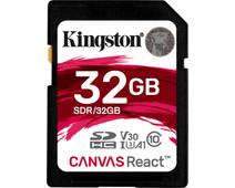 Kingston SDHC Canvas React 32GB 100 MB/s