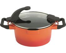 Berghoff Virgo kookpan met deksel 28 cm oranje
