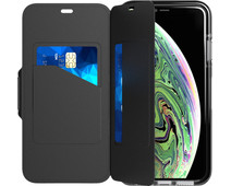 Tech21 Evo Wallet Apple iPhone Xs Max Book Case Zwart