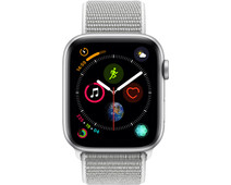 Apple Watch Series 4 44mm Silver Aluminum/Gray Nylon Sport Band