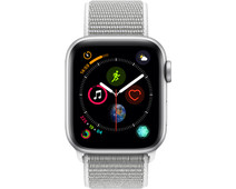 Apple Watch Series 4 40mm Zilver Aluminium/Grijze Nylon Sportband