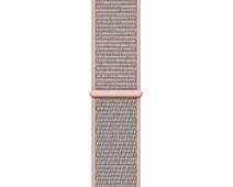 Apple Watch 44mm Nylon Sport Loop Horlogeband Rozenkwarts