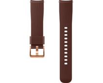 Samsung Galaxy Watch 42mm/Gear Sport Silicone Watch Strap Brown