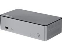 "StarTech 4K dual-monitor USB-C docking station met 60W PD en 2.5"" SATA bay"