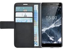 Azuri Wallet Magneet Nokia 5.1 (2018) Book Case Zwart