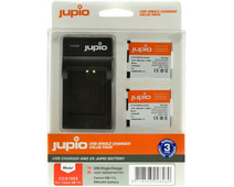 Jupio Kit: 2x Battery NB-11L + USB Single Charger