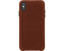 Decoded Leather iPhone Xs Max Back Cover Brown