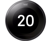 Google Nest Learning Thermostat V3 Premium Zwart met installatie