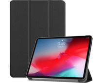 Just in Case Smart Tri-Fold Apple iPad Pro 11 Inch (2018) Book Case Black