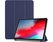 Just in Case Smart Tri-Fold Apple iPad Pro 11 Inch (2018) Book Case Blue