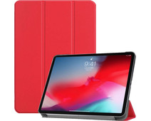 Just in Case Smart Tri-Fold Apple iPad Pro 11 Inch (2018) Book Case Red