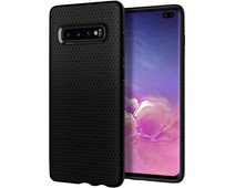 Spigen Liquid Air Samsung Galaxy S10 Plus Back Cover Zwart