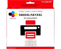 Pixeljet 580XXL/581XXL Cartridges Combo Pack