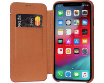 Decoded Leather Slim Wallet Apple iPhone X/Xs Book Case Bruin