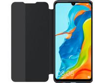 Huawei P30 Lite View Flip Cover Book Case Black