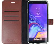 Valenta Booklet Gel Skin Samsung Galaxy A7 (2018) Book Case Bruin
