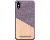 Nordic Elements Frejr Apple iPhone X/Xs Back Cover Purple/Wood