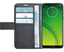 Azuri Wallet Magneet Motorola Moto G7 Power Book Cover Zwart