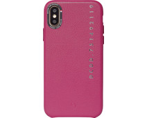 Decoded Leather Apple iPhone X / Xs Back Cover Pink