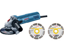 Bosch Professional GWS 880 + 2x diamond wheel in case