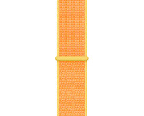 Apple Watch 38/40 mm Nylon Sport Loop Horlogeband Kanariegeel