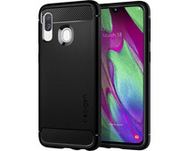 Spigen Rugged Armor Samsung Galaxy A40 Back Cover Black
