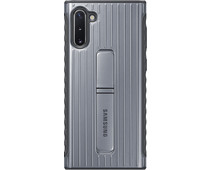 Samsung Galaxy Note 10 Protective Standing Back Cover Silver