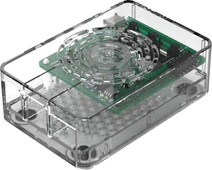Multicomp Pro Raspberry Pi 4 casing - Power button - Transparent