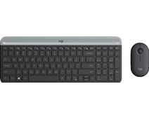 Logitech MK470 Slim Draadloos Toetsenbord en Muis Grijs QWERTY