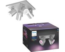 Philips Hue Argenta 4-Spot White & Color aluminum