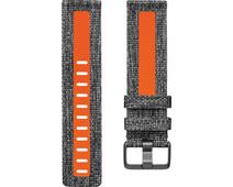 Fitbit Versa 2 Woven Siliconen Horlogeband Oranje S