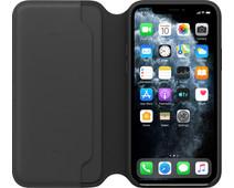 Apple iPhone 11 Pro Max Leather Folio Zwart