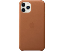 Apple iPhone 11 Pro Max Leather Back Cover Saddle Brown