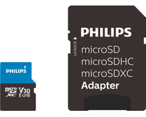 Philips Micro SDXC 64GB 100MB/s + SD Adapter