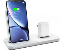 Zens Wireless Charger 10W with Stand and AirPods Dock White