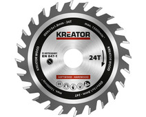 Kreator Saw Blade for Wood 89x15x1.8mm 24T