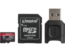 Kingston 256GB microSDXC React Plus SDCR2 with Adapter + MLPM