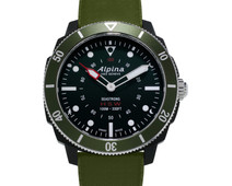 Alpina Seastrong Horological Black / Green