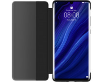 Huawei P30 Pro View Flip Cover Book Case Zwart