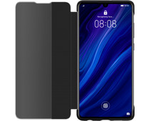 Huawei P30 View Flip Cover Book Case Zwart