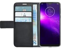 Azuri Wallet Magneet Motorola One Action Book Case Zwart