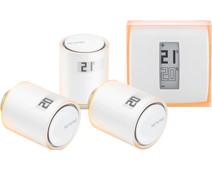 Netatmo Thermostaat + Netatmo NAV-EN 3-Pack met installatie